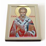 Святитель Мирон Критский, икона на доске 8*10 см - Иконы