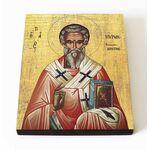 Святитель Мирон Критский, печать на доске 8*10 см - Иконы