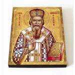 Святитель Николай Сербский, Велимирович, икона на доске 8*10 см - Иконы