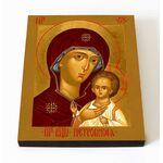 Петровская икона Божией Матери, печать на доске 8*10 см - Иконы