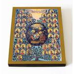Родословие Иусуса Христа, икона на доске 8*10 см - Иконы