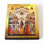 Собор Владимирских святых, икона на доске 8*10 см - Иконы