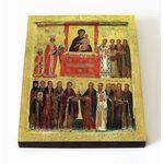 Торжество Православия, икона на доске 8*10 см - Иконы