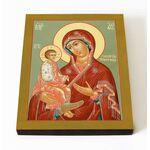 """Икона Божией Матери """"Троеручица"""", печать на доске 8*10 см - Иконы"""