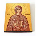 Преподобномученица Феврония Сирская, дева, икона на доске 8*10 см - Иконы