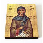 Преподобная Феодора Солунская, икона на доске 8*10 см - Иконы