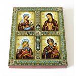 """Четырехчастная икона Божией Матери """"Материнство"""", на доске 8*10 см - Иконы"""