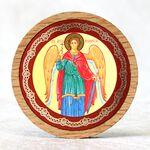 Икона автомобильная круглая с ковчегом, Ангел Хранитель - Автомобильные иконы