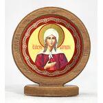Икона автомобильная круглая с ковчегом на подставке, Ксения Петербургская - Автомобильные иконы