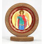 Икона автомобильная круглая с ковчегом на подставке, Ангел Хранитель - Автомобильные иконы
