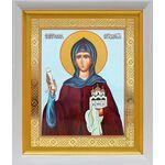Преподобная София Суздальская, икона в белом киоте 19*22 см - Иконы