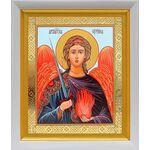 Архангел Уриил, икона в белом киоте 19*22 см - Иконы
