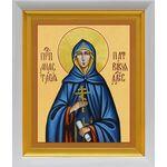 Преподобная Анастасия Патрикия, Александрийская, белый киот 19*22 см - Иконы