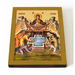 """Икона Божией Матери """"Живоносный Источник"""", на доске 13*16,5 см - Иконы"""