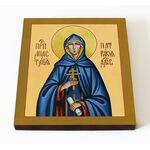 Преподобная Анастасия Патрикия, Александрийская, доска 14,5*16,5 см - Иконы