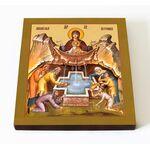 """Икона Божией Матери """"Живоносный Источник"""", на доске 14,5*16,5 см - Иконы"""