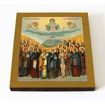 Собор Афонских преподобных святых, икона на доске, 14,5*16,5 - Иконы