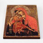 """Киккская икона Божией Матери """"Милостивая"""", XIII-XIV вв, доска 30*40 см - Иконы"""