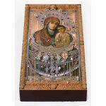 Святогорская икона Божией Матери, печать на доске 7*13 см - Иконы