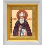 Преподобный Александр Свирский, в белом киоте 14*16 см - Иконы