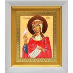 Великомученица Ирина Македонская, белый киот 14*16 см - Иконы
