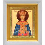 Великомученица Екатерина Александрийская, белый киот 14*16 см - Иконы