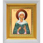 Мученица Дария Римская, икона в белом киоте 14*16 см - Иконы