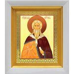 Илия Пророк, икона в белом киоте 14*16 см - Иконы
