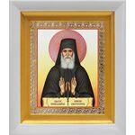 Преподобный Паисий Святогорец, икона в белом киоте 14*16 см - Иконы