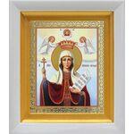 Великомученица Параскева Пятница, икона в белом киоте 14*16 см - Иконы