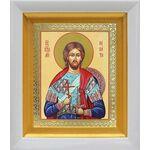 Великомученик Никита Готфский, икона в белом киоте 14*16 см - Иконы