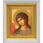 Архангел Гавриил, икона в белом киоте 14*16 см - Иконы