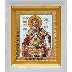 Великомученик Артемий Антиохийский, икона в белом киоте 14*16 см - Иконы
