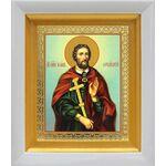 Великомученик Иоанн Новый Сочавский, икона в белом киоте 14*16 - Иконы