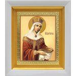 Равноапостольная царица Елена, икона в белом киоте 14*16 см - Иконы