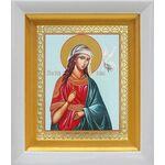 Великомученица Ирина Македонская, икона в белом киоте 14*16 см - Иконы