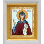 Преподобная София Суздальская, икона в белом киоте 14*16 см - Иконы