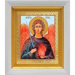 Архангел Уриил, икона в белом киоте 14*16 см - Иконы