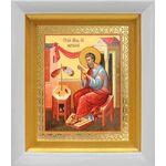 Апостол Матфей, евангелист, икона в белом киоте 14*16 см - Иконы