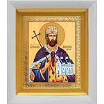 Благоверный князь Владислав Сербский, икона в белом киоте 14*16 см - Иконы