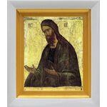 Святой Иоанн Предтеча, XV в, белый киот 14*16 см - Иконы