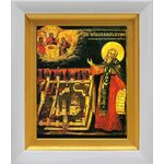 Преподобный Макарий Желтоводский, Унженский, белый киот 14*16 см - Иконы