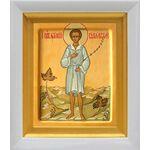 Праведный Артемий Веркольский, отрок, икона в белом киоте 14*16 см - Иконы