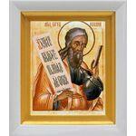 Пророк Иеремия, икона в белом киоте 14*16 см - Иконы