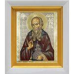 Преподобный Феодорит Кольский, икона в белом киоте 14*16 см - Иконы