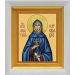 Преподобная Анастасия Патрикия, Александрийская, белый киот 14*16 см - Иконы