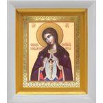 """Икона Божией Матери """"Помощница в родах"""", белый киот 14*16 см - Иконы"""