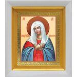 """Икона Божией Матери """"Умиление"""", белый киот 14*16 см - Иконы"""