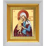 """Икона Божией Матери """"Взыскание погибших"""", белый киот 14*16 см - Иконы"""