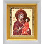 Тихвинская икона Божией Матери, белый киот 14*16 см - Иконы